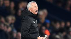 West Brom manager Alan Pardew is looking for his first win in charge