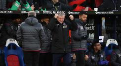 Crystal Palace manager Roy Hodgson saw his side perform a late comeback against Watford