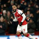 Alexandre Lacazette has scored Arsenal eight goals since his club-record summer move from Lyon