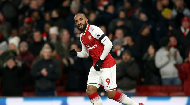 Alexandre Lacazette has scored Arsenal eight goals since his club-record summer move from Lyon.