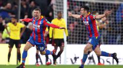 James McArthur (left) scored a dramatic late winner against Watford