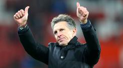 Claude Puel enjoyed a happy return to St Mary's