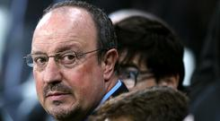 Newcastle manager Rafael Benitez is awaiting news of the club's proposed takeover