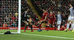 Dominic Solanke thought he had won the game for Liverpool