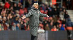 Arsene Wenger has seen his Arsenal side slip to seventh in the Premier League.