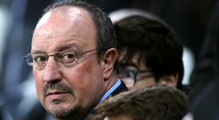 Newcastle managing director Lee Charnley, left, has held transfer talks with manager Rafael Benitez