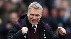 West Ham United manager David Moyes has seen his side beat Chelsea and draw with Arsenal in an upturn of fortunes