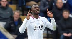 Christian Benteke celebrated his first Crystal Palace goal since May