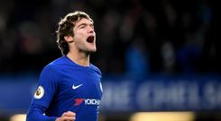 Marcos Alonso celebrated scoring Chelsea's winner
