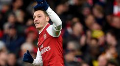 Mesut Ozil scored Arsenal's match-winner against Newcastle