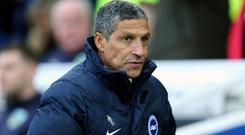 Chris Hughton is concerned by Brighton's lack of goals