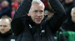 Alan Pardew, pictured, admires Manchester United boss Jose Mourinho and his will to win