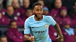 Raheem Sterling scored twice for Manchester City in their 4-1 win over Tottenham