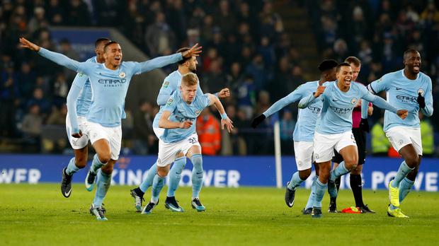 Manchester City remain on course for a clean sweep of trophies