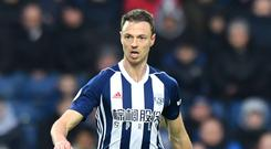 Jonny Evans joined West Brom from Manchester United in 2015