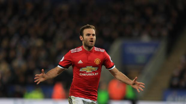 Juan Mata scored twice but Manchester United could only draw at Leicester