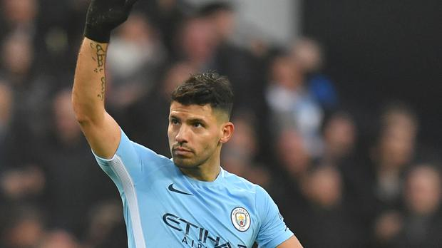 Sergio Aguero scored twice in Manchester City's victory over Bournemouth