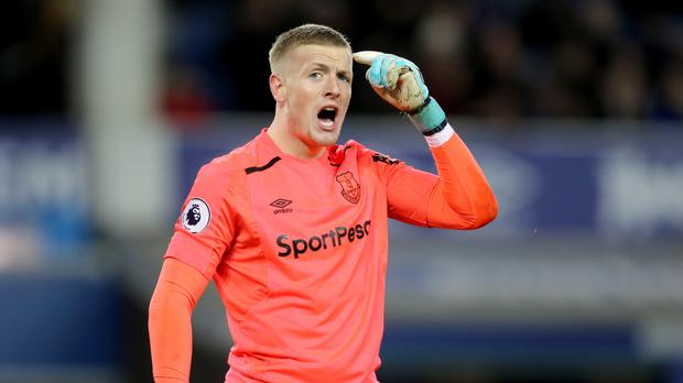 England goalkeeper Jordan Pickford is not allowing World Cup dreams affect his Everton performances