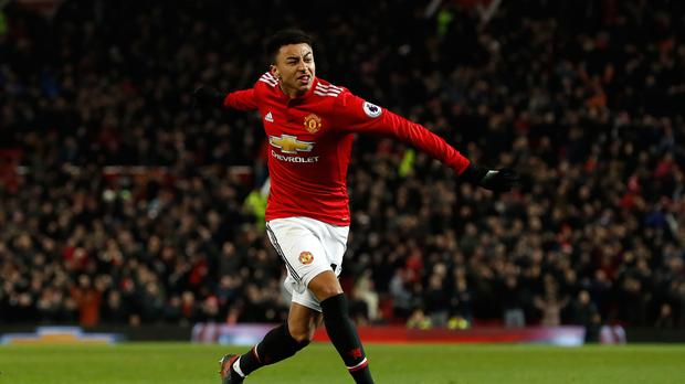 Manchester United's Jesse Lingard scored twice after coming on at half-time against Burnley