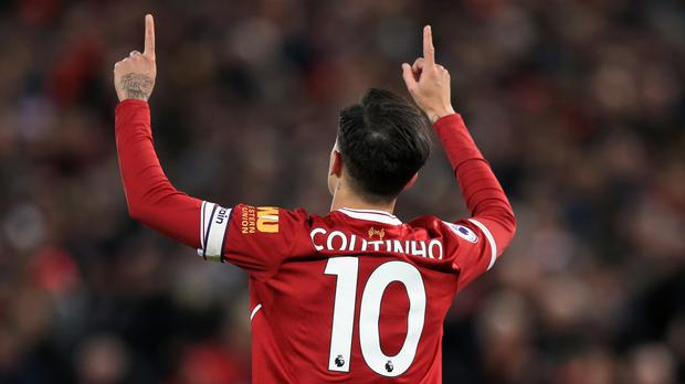 Philippe Coutinho starred in Liverpool's rout of Swansea