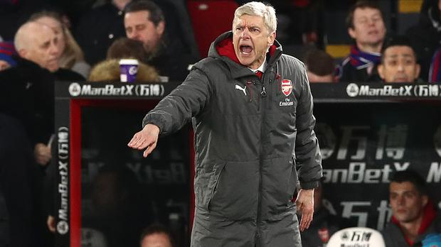 Arsenal manager Arsene Wenger oversaw his 810th Premier League match at Selhurst Park