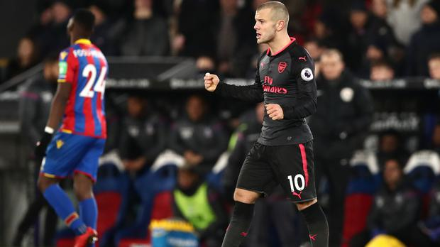 Arsenal's Jack Wilshere was in impressive form in the 3-2 win at Crystal Palace