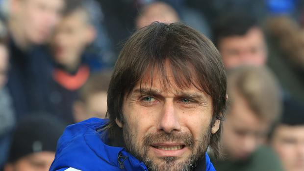 Chelsea manager Antonio Conte, pictured, refused to discuss the future of star playmaker Eden Hazard on Friday