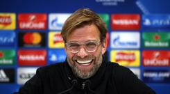 Liverpool manager Jurgen Klopp found the question amusing