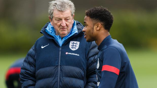 Roy Hodgson, pictured left, believes Raheem Sterling has matured greatly over the last 18 months