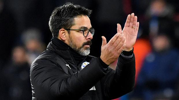 David Wagner acknowledges the fans after a hard-fought point against Burnley