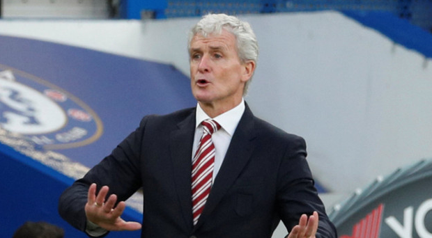 Mark Hughes: Team ready to go today Photo: Reuters