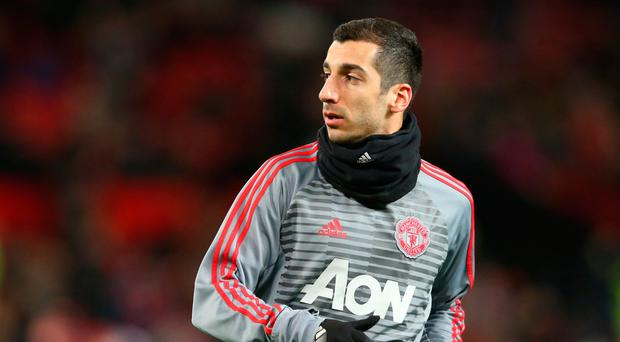 We don't know what Mkhitaryan was thinking at that moment, but it looked like the face of a man who was thoroughly fed up Photo: Getty
