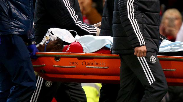 Romelu Lukaku was taken off with a head injury against Southampton