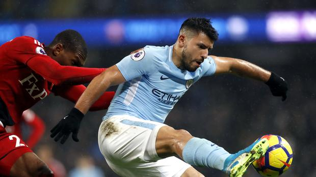 Sergio Aguero, pictured, believes Harry Kane would have no problem succeeding at Real Madrid