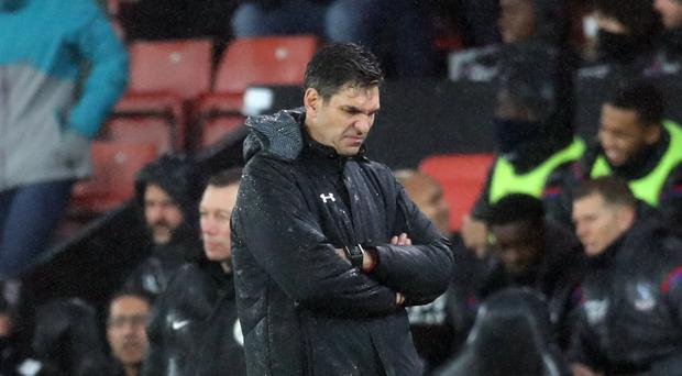 Mauricio Pellegrino looks dejected towards the end of the game