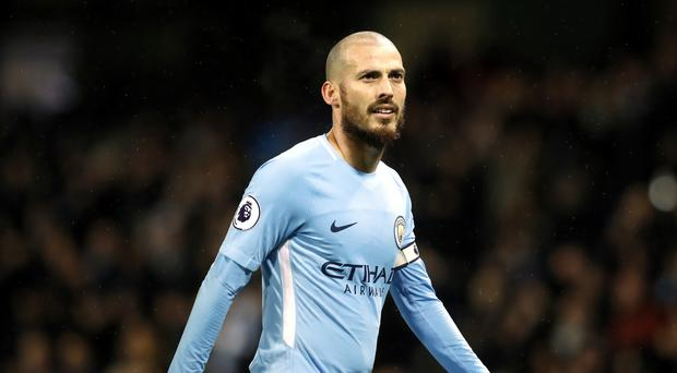 David Silva was back in action for Manchester City on Tuesday after missing four of the previous five games.