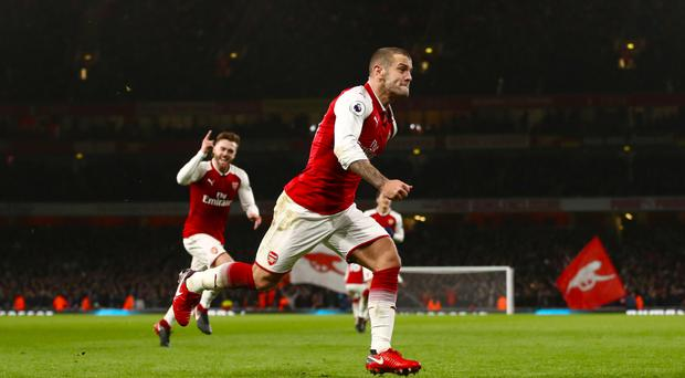 Jack Wilshere opened the scoring for Arsenal against Chelsea