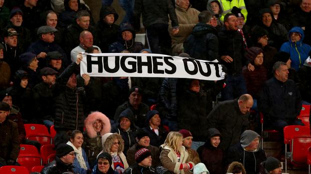 Some Stoke fans have vociferously called for the sacking of manager Mark Hughes