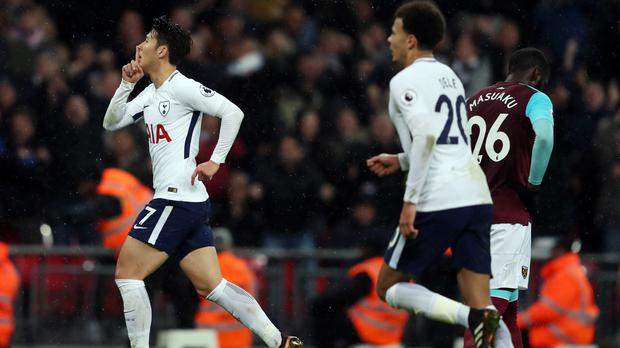 Tottenham were grateful for Son Heung-Min's equaliser against West Ham.