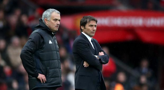 Jose Mourinho, left, and Antonio Conte reignited their feud on Friday