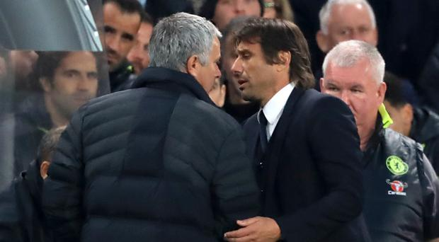 Jose Mourinho, left, and Antonio Conte have a long-standing feud
