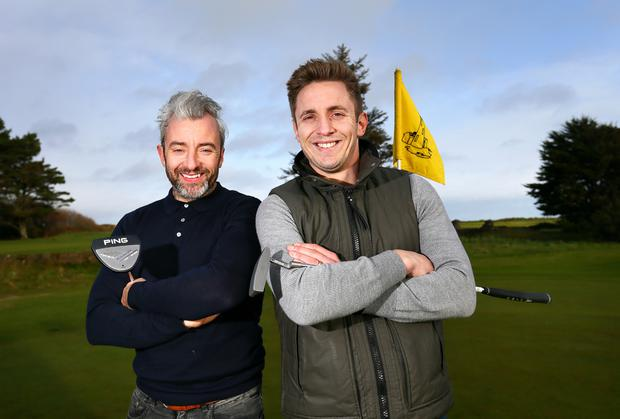 Kevin Doyle, right, with his old friend and team-mate Stephen Hunt: 'Not one time have I watched a game and thought, jeez, I'd love to be out there'. Photos: Frank McGrath