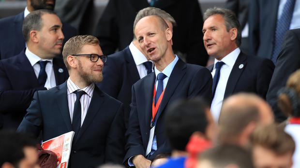 Referees' chief Mike Riley, pictured centre, has admitted VAR would have overturned Mike Dean's penalty decision at The Hawthorns