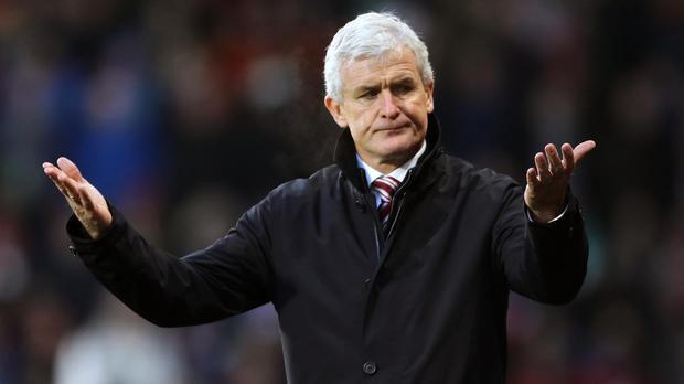 Mark Hughes was the seventh managerial casualty of the Premier League season