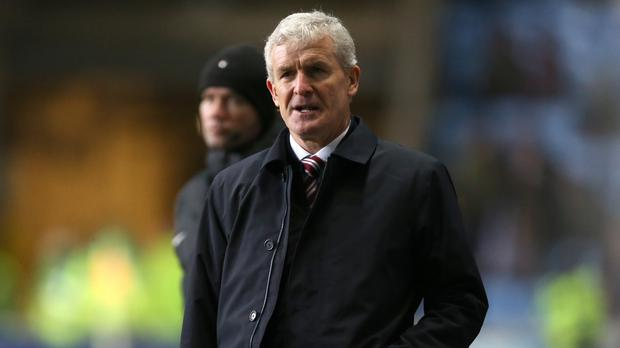 Former Stoke boss Mark Hughes was sacked on Saturday after a 2-1 FA Cup defeat to Coventry