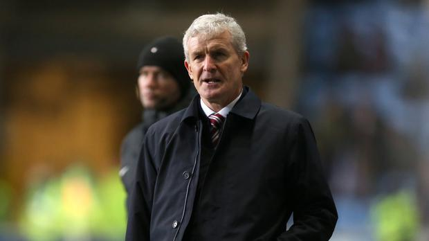 Mark Hughes, pictured had been keen to sign Moritz Bauer before he was sacked by Stoke