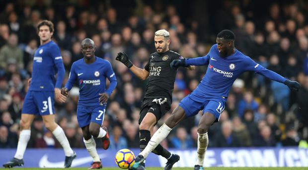 Leicester's Riyad Mahrez centre could not find the breakthrough against Chelsea