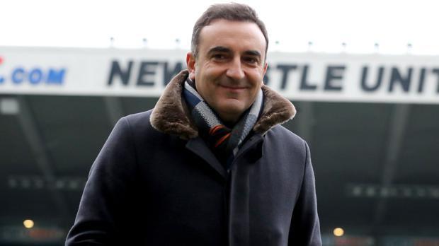 Swansea manager Carlos Carvalhal was aggrieved not to be awarded a penalty at Newcastle