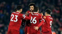 Mohamed Salah scored what proved to be Liverpool's winner