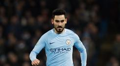 Ilkay Gundogan and Manchester City suffered a rare defeat at Liverpool on Sunday